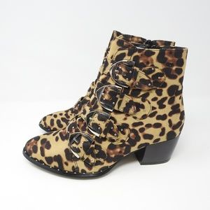 ASOS Truffle Collection Suede Studded Ankle Boots